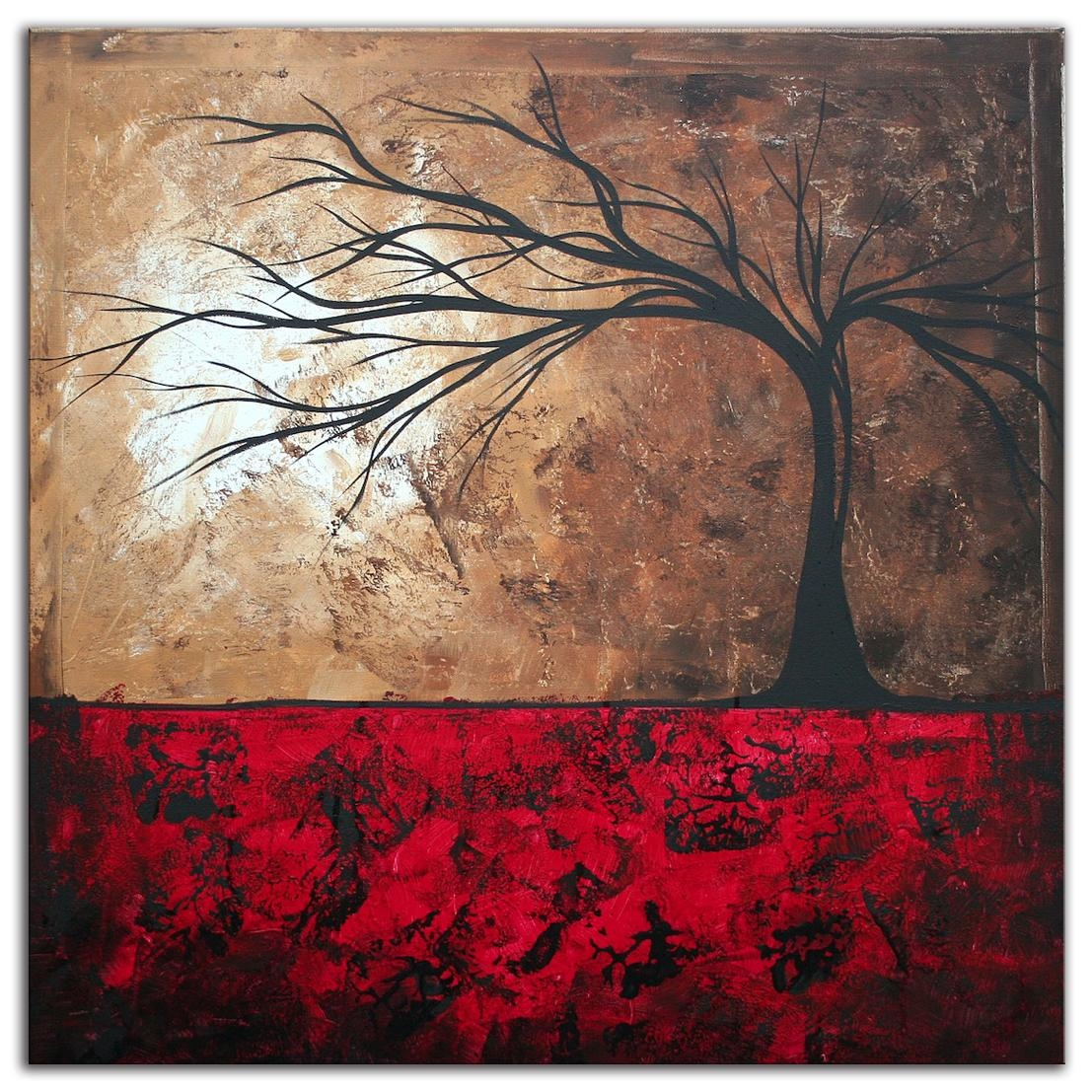 Paintings For Sale | Abstract Tree Art 'lost In The Forest' Modern In Megan Duncanson Metal Wall Art (Image 14 of 20)
