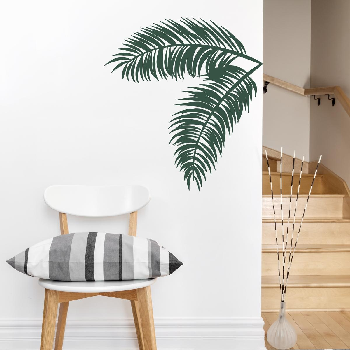 Palm Leaves Wall Decal Sticker With Palm Leaf Wall Art (View 3 of 20)