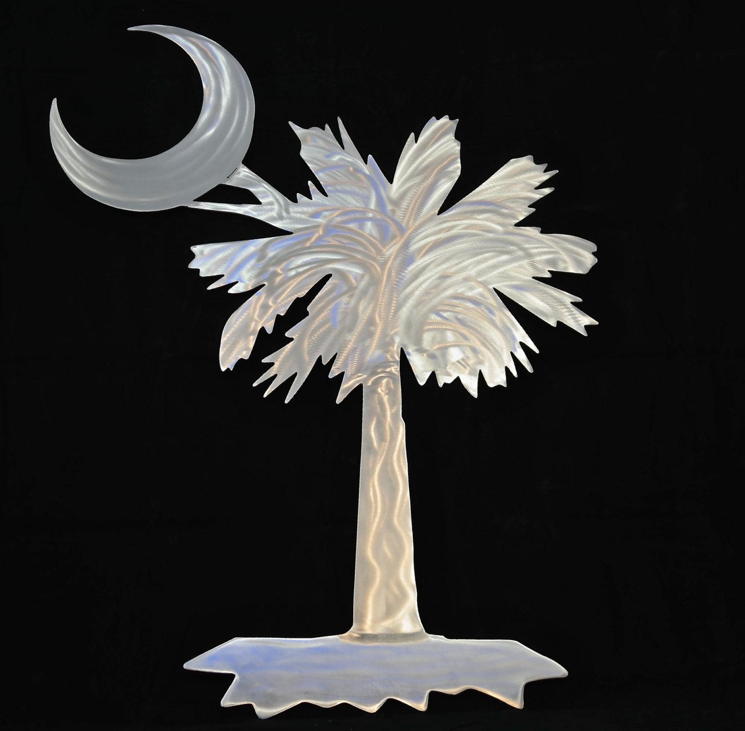 Palm Tree Palmetto Tree Metal Palmettotree Custom Metal Throughout Palm Tree Metal Art (Image 15 of 20)