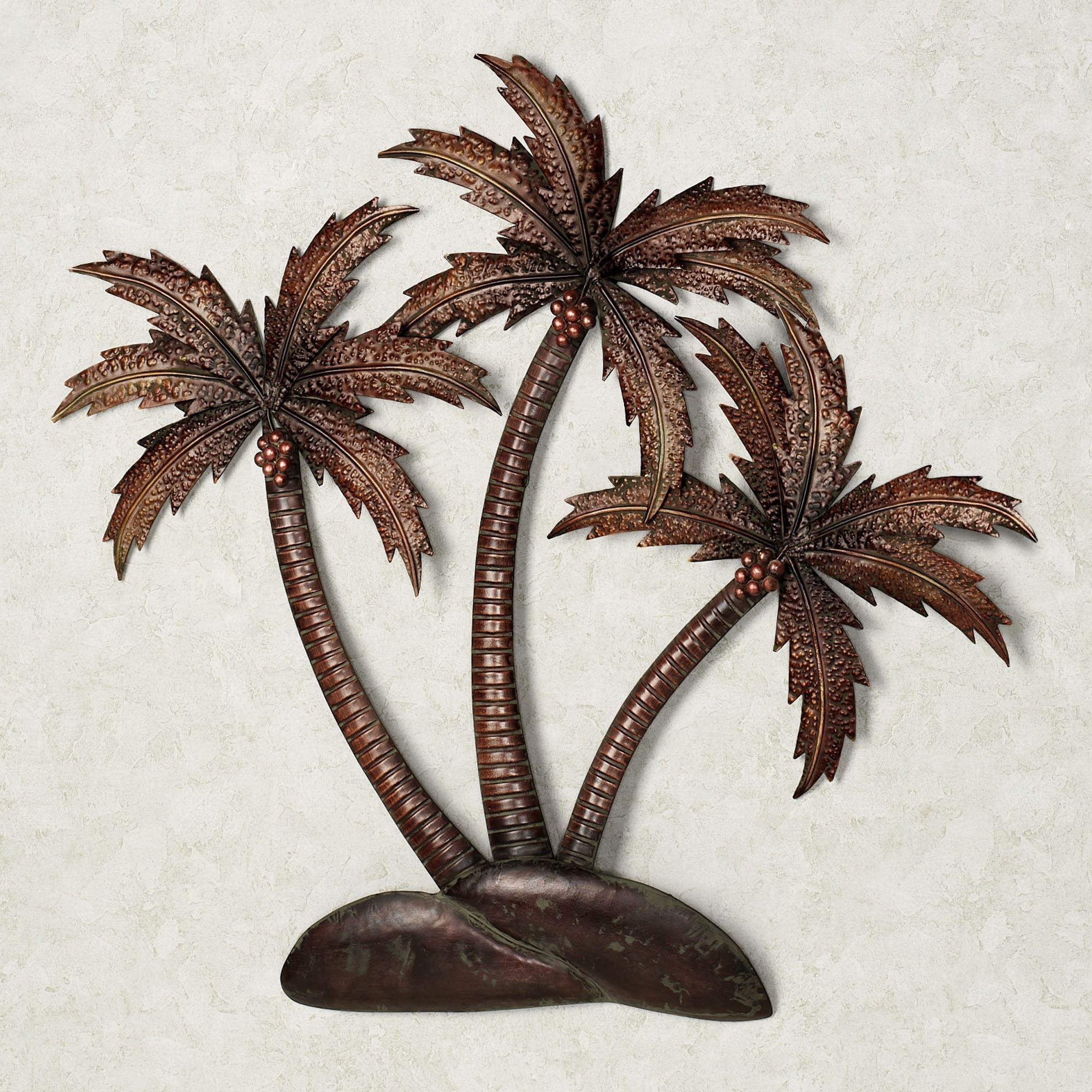 Palmiera Tropical Metal Wall Art Regarding Palm Leaf Wall Decor (Image 16 of 20)