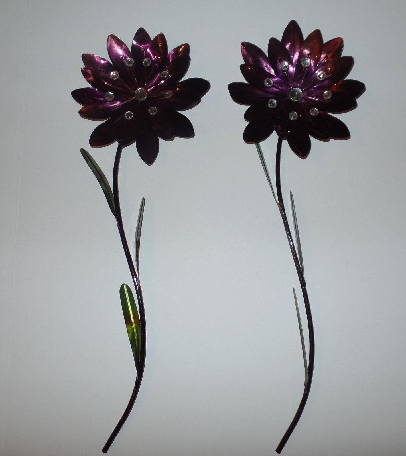 Paper Flowers Wall Art ~ Loversiq Inside Purple Flower Metal Wall Art (Image 17 of 20)