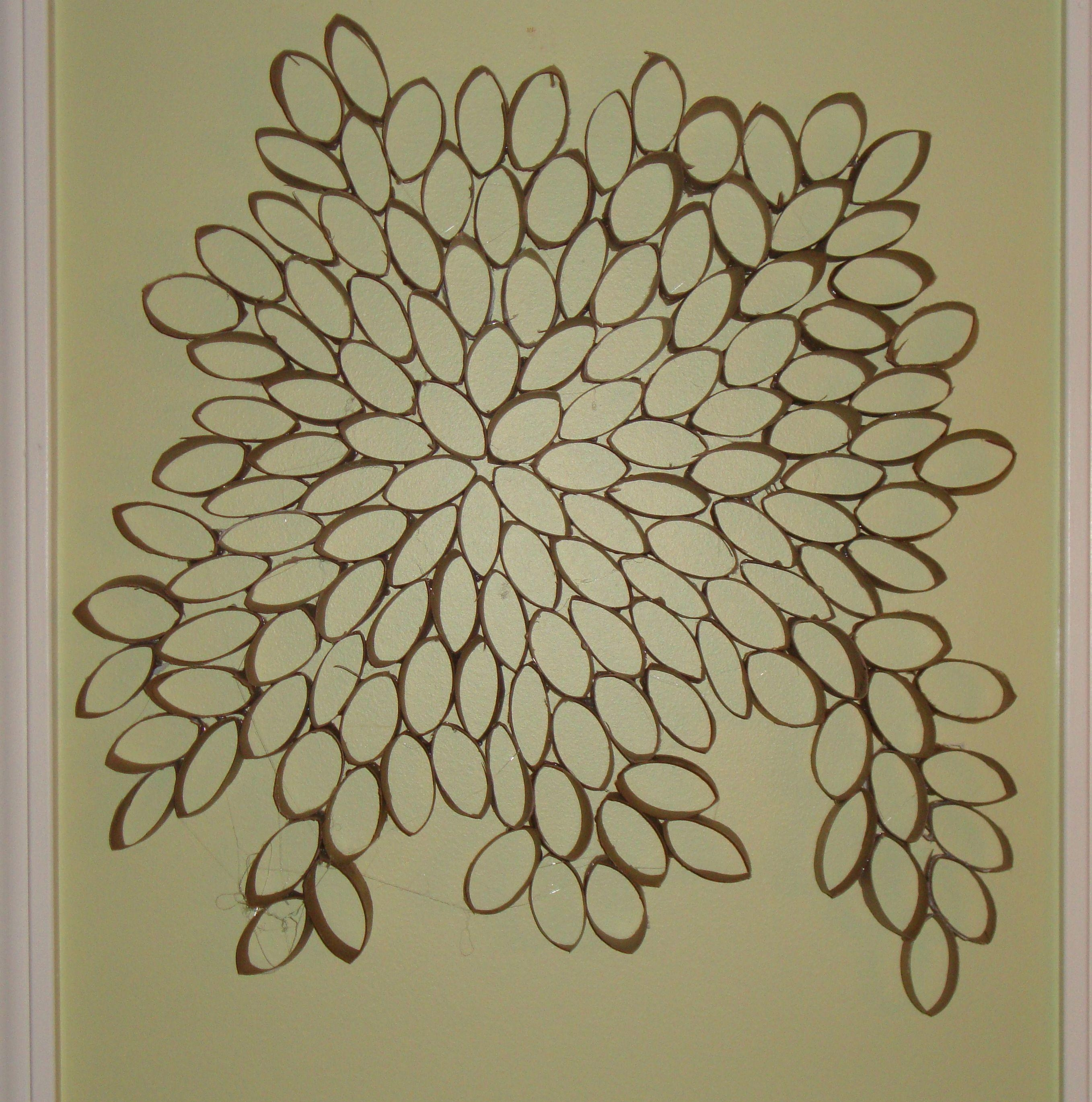 Paper Towel Roll Wall Art Recycled Paper Towel Roll Wall Art Diy Throughout Recycled Wall Art (Image 12 of 20)