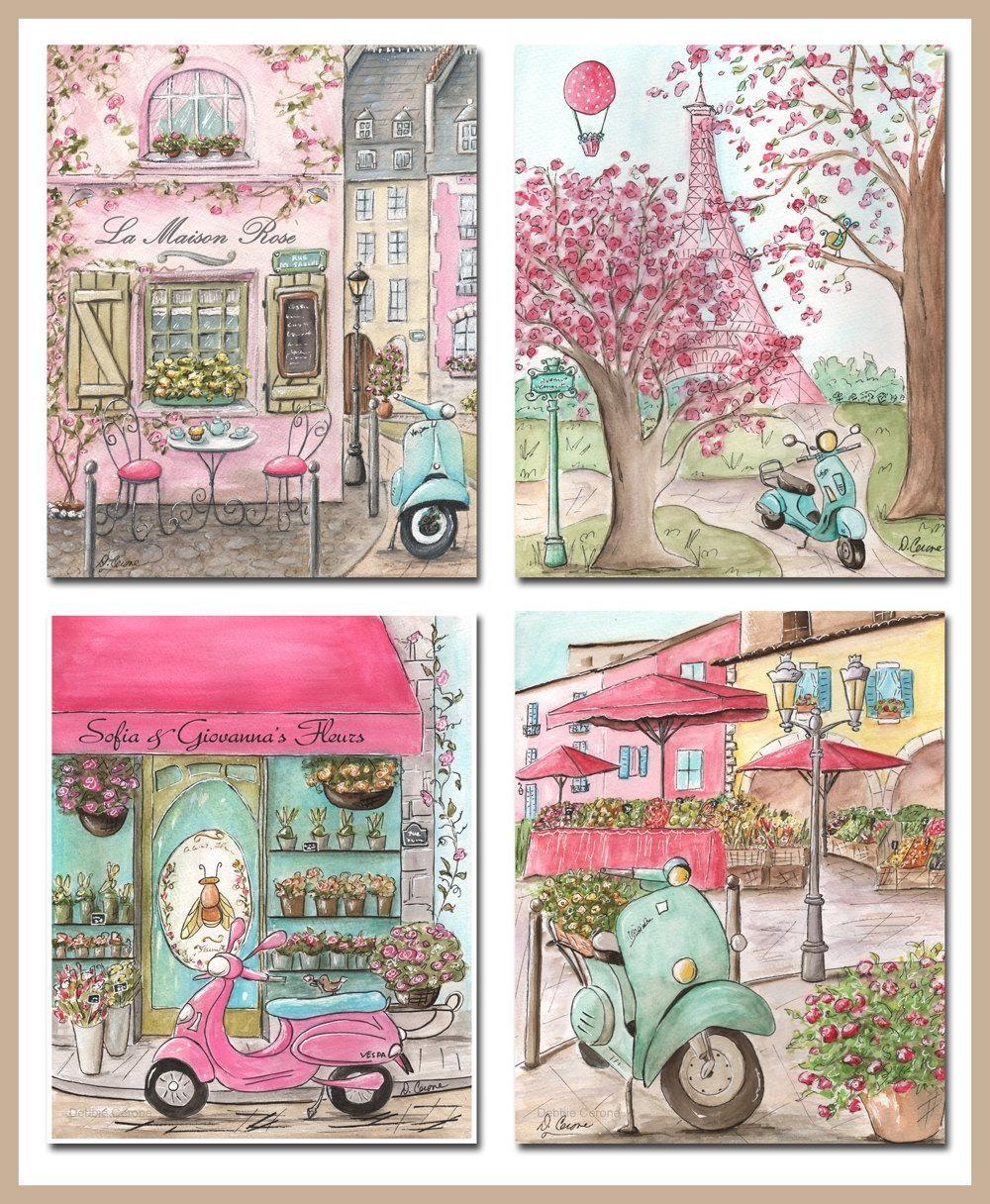 Paris Art Prints Paris Decor Paris Bedroom Decor Paris Pertaining To Paris Theme Nursery Wall Art (Image 15 of 20)