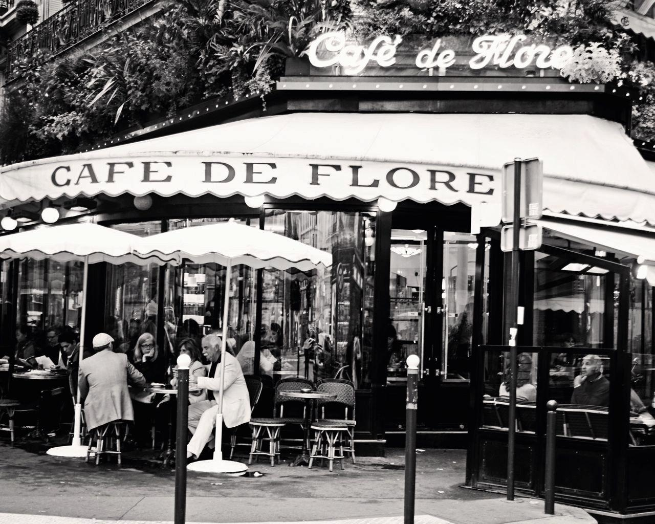 Paris Cafe Photography Black And White Photography Cafe De Throughout Black And White Paris Wall Art (Image 9 of 20)