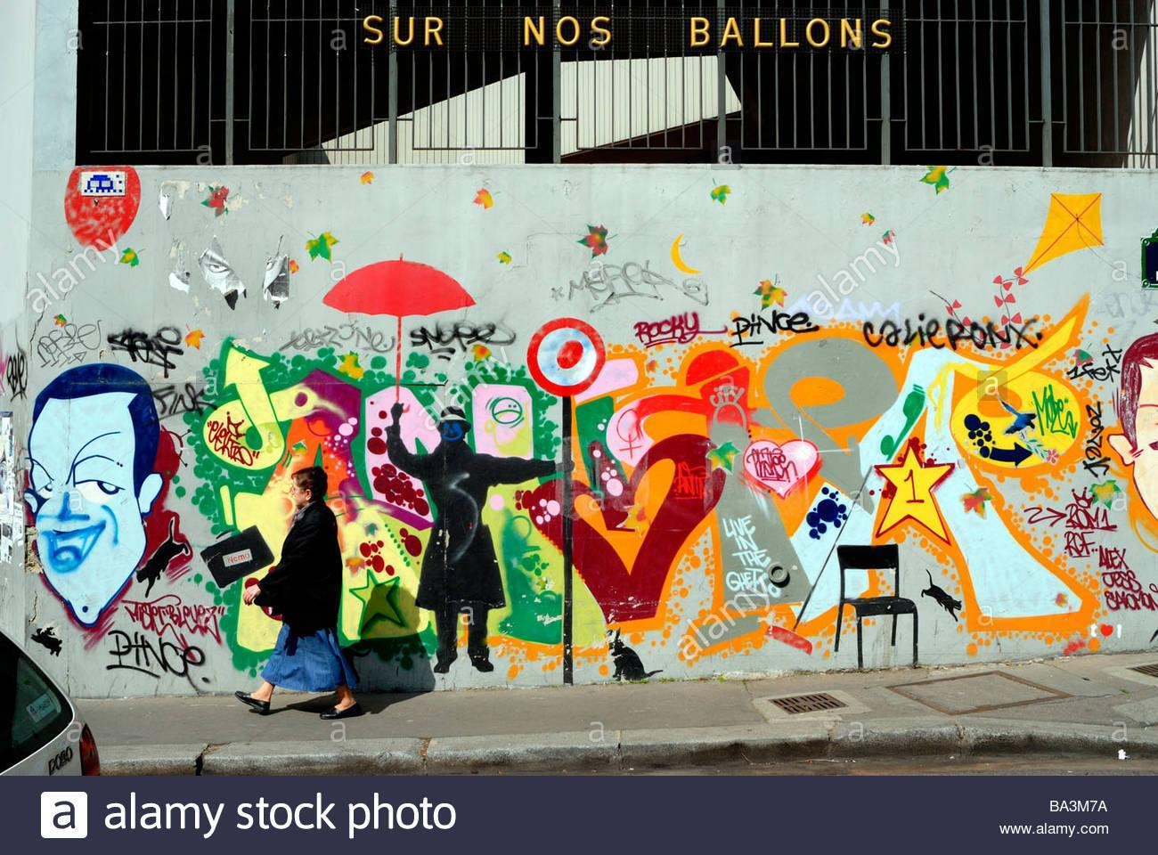 "Paris France, ""street Scene"", ""real Estate"" ""public Art"", ""wall Pertaining To Street Scene Wall Art (Image 7 of 20)"