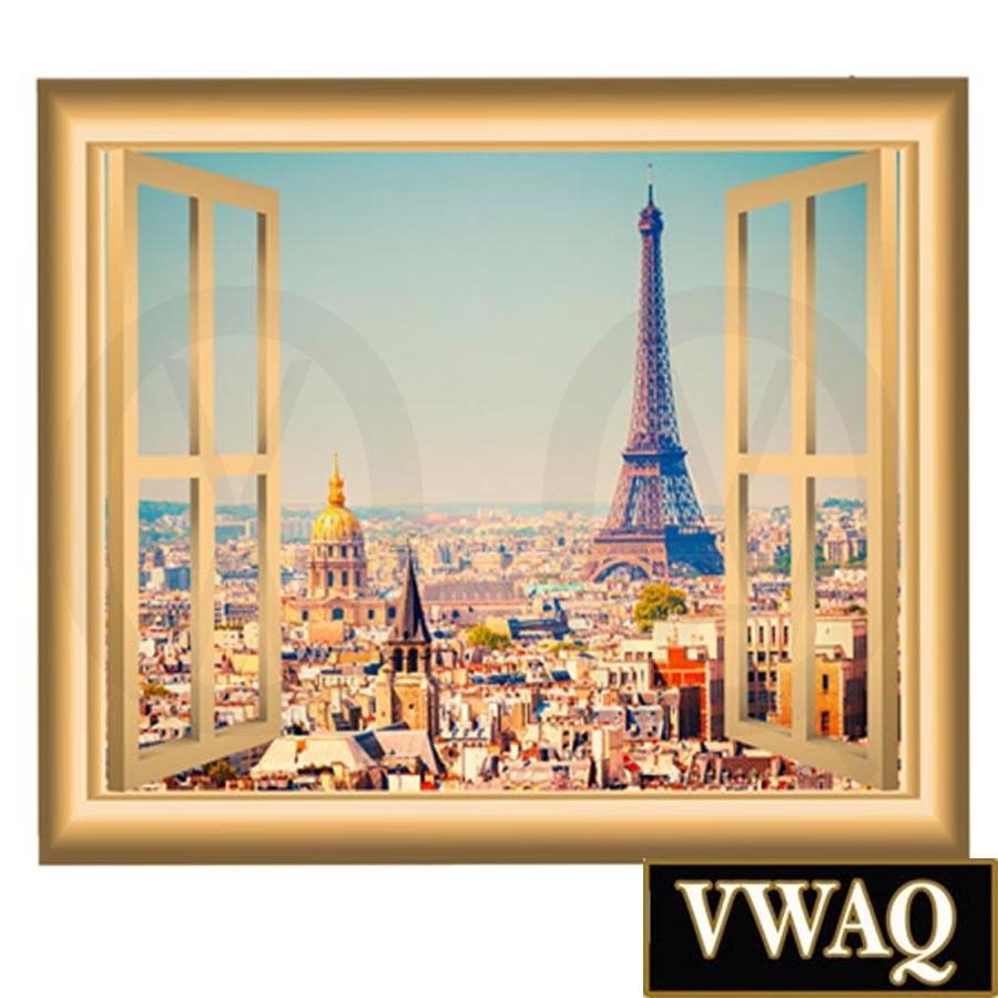 Paris France Wall Decal Eiffel Tower Mural Peel And Stick Window In Eiffel Tower Wall Art (Image 15 of 20)