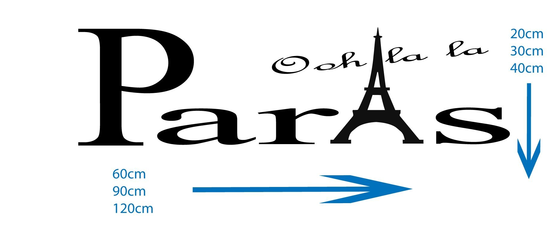 Paris, Ooh La La, With Eiffel Tower Vinyl Wall Art Decal Sticker Within Paris Vinyl Wall Art (View 2 of 20)