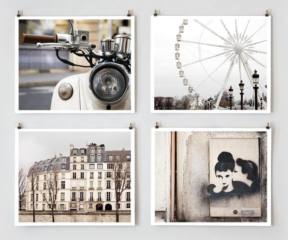 Paris Photography Gallery Wall Prints Fine Art Photography Throughout Neutral Wall Art (Image 16 of 20)