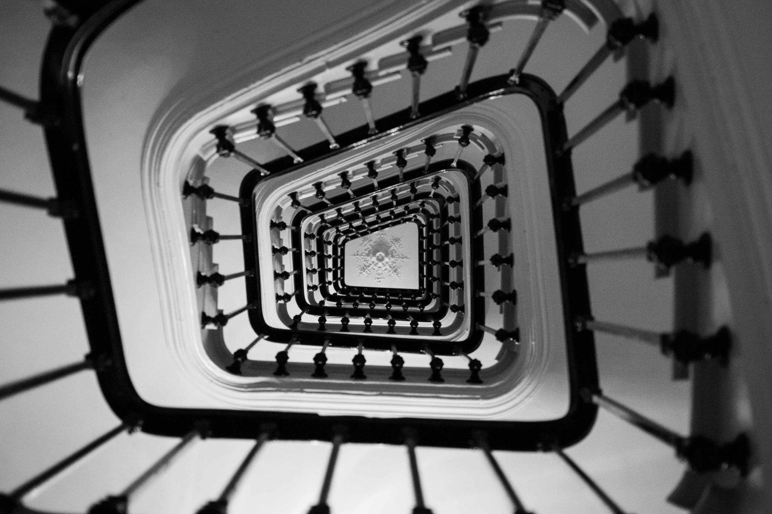 Paris Photography Paris Apartment Stairs Black And White Regarding Black And White Paris Wall Art (Image 11 of 20)