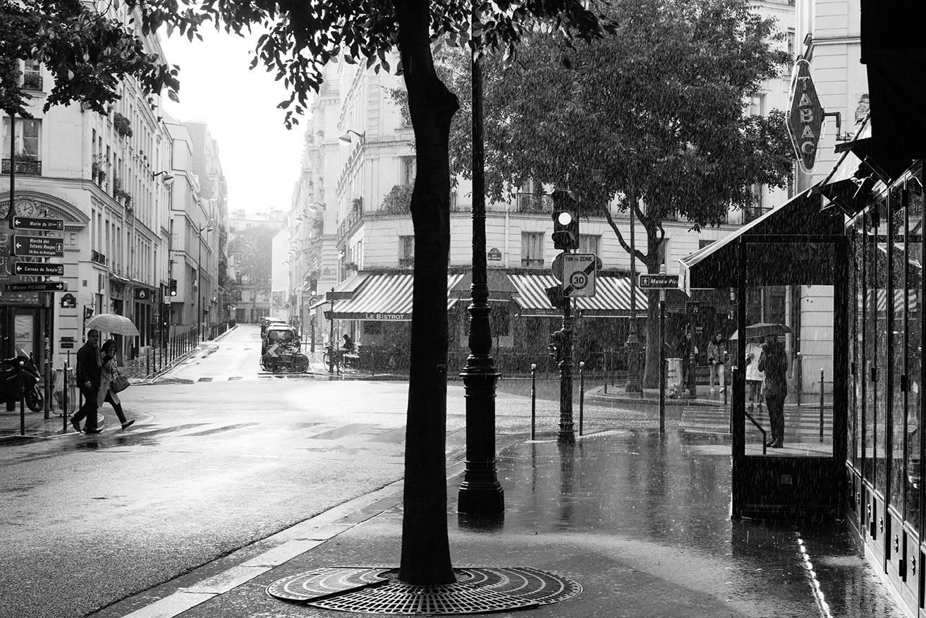 Paris Photography, Rainy Sunday Morning In Paris , Black And White For Black And White Paris Wall Art (View 14 of 20)