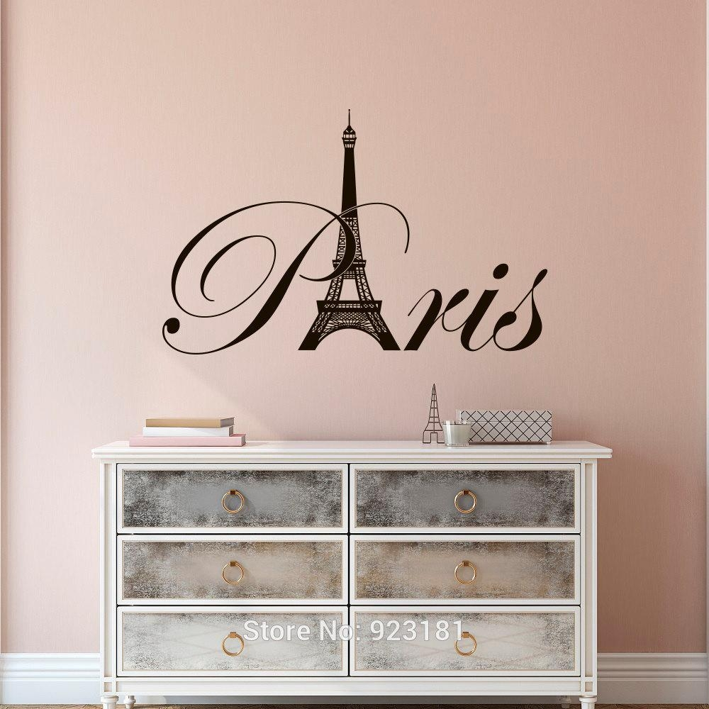 Paris Style Bedroom Promotion Shop For Promotional Paris Style In Paris Vinyl Wall Art (View 10 of 20)