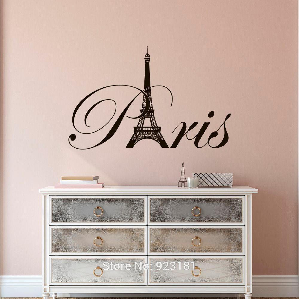 Paris Style Bedroom Promotion Shop For Promotional Paris Style In Paris Vinyl Wall Art (Image 13 of 20)