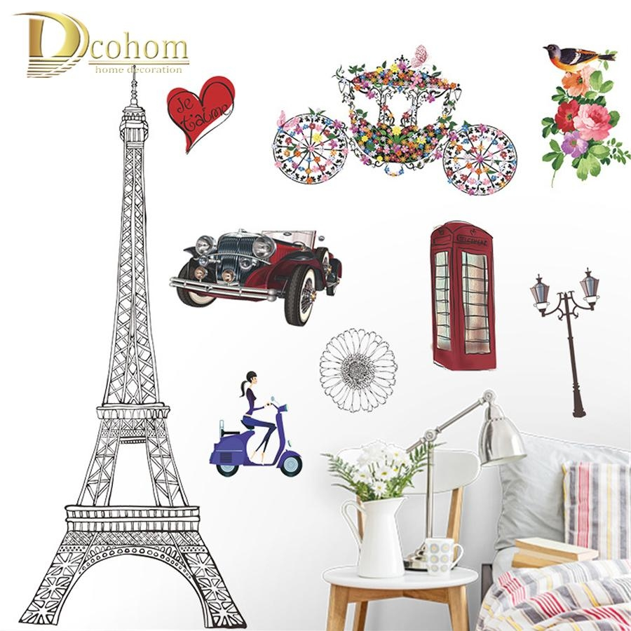 Paris Themed Decoration Promotion Shop For Promotional Paris In Paris Themed Stickers (View 6 of 20)