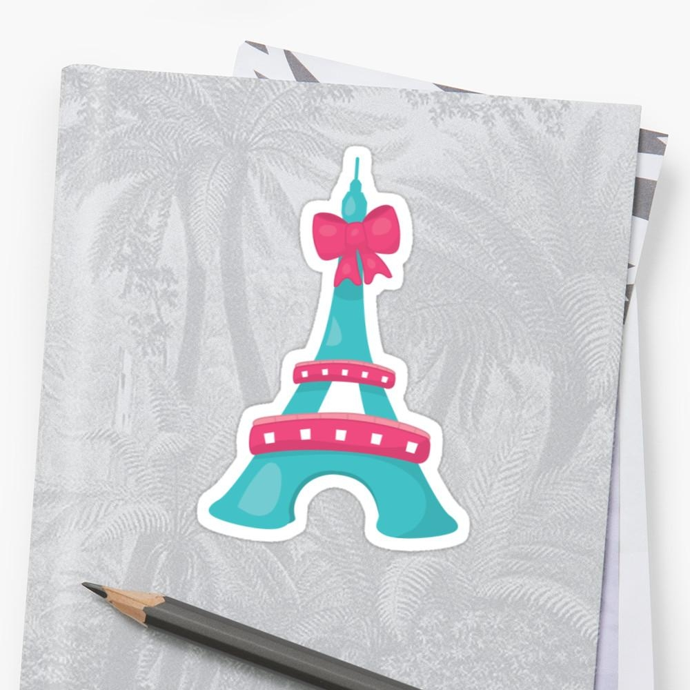 "Paris Themed Party Stickers"" Stickerspartypeepsfun 