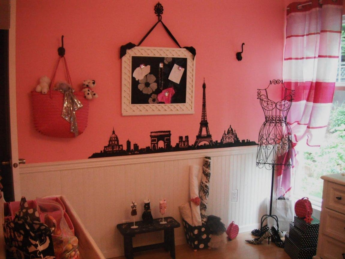 Paris Themed Wall Decals Curtains Room Decor Ideas Intended For Paris Themed Stickers (View 20 of 20)