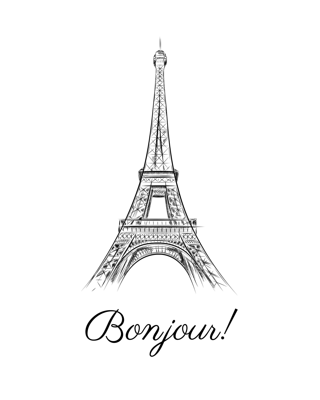 Paris Wall Art, Black And White Art, Paris Art Work, Minimalist Regarding Black And White Paris Wall Art (View 18 of 20)