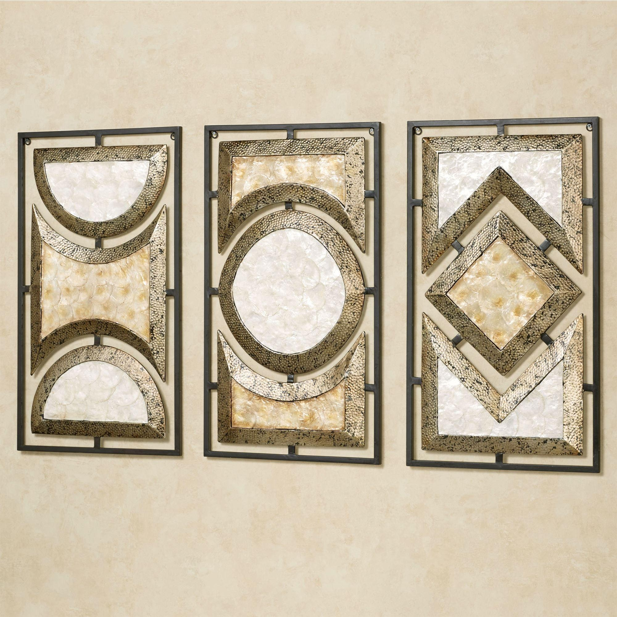 Pasquale Capiz Shell Metal Wall Art Set With Regard To Cream Metal Wall Art (View 3 of 20)