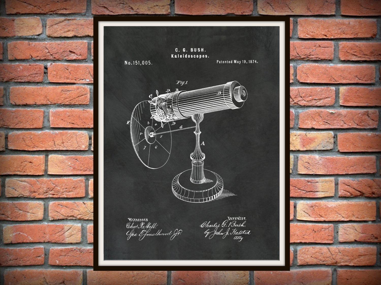 Patent 1874 Kaleidoscope Wall Art Print – Game Patent  Toy – Early Inside Kaleidoscope Wall Art (Image 15 of 20)