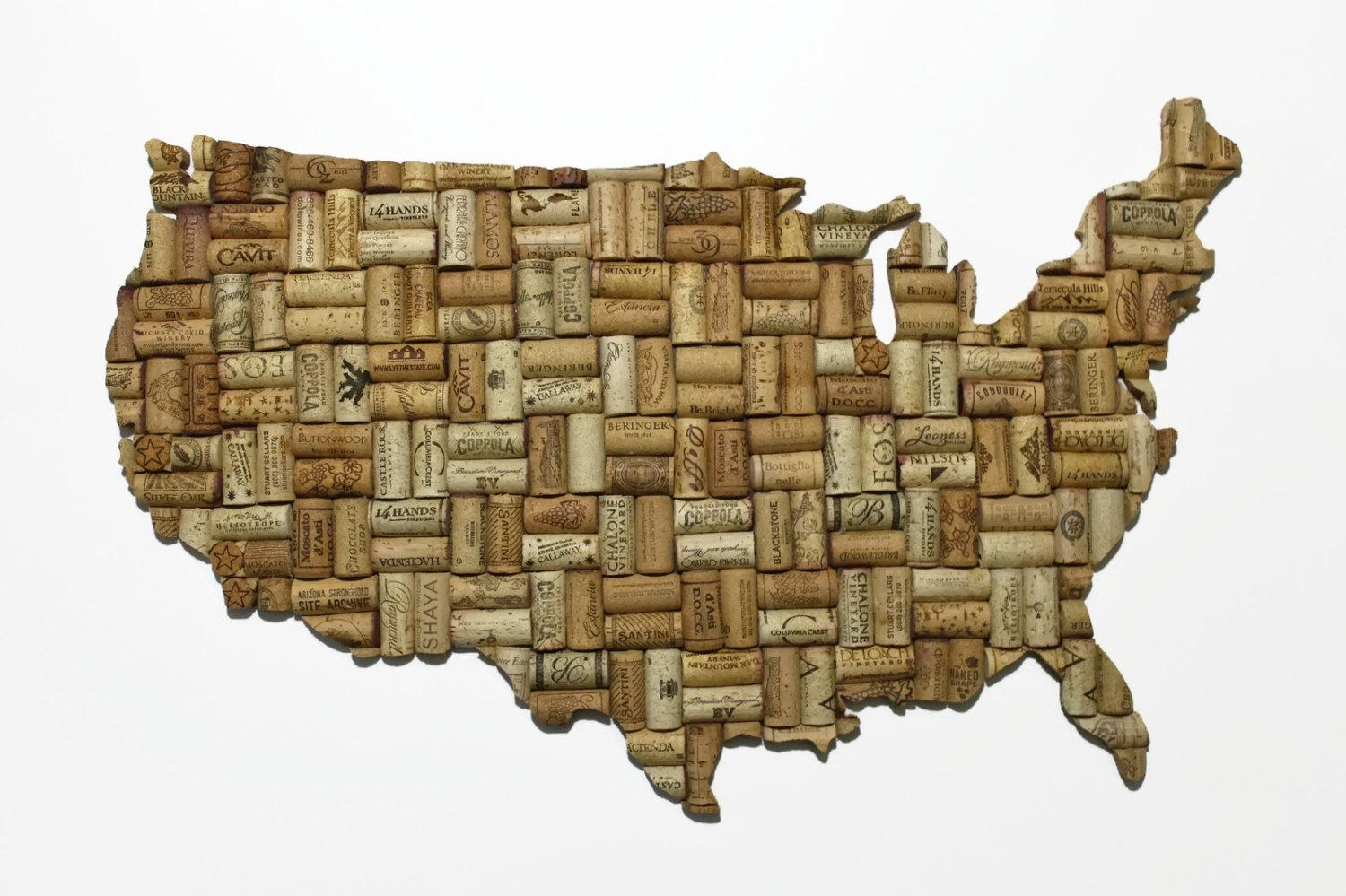 Patriotic Decor United States Map Patriotic Art United Regarding Us Map Wall Art (Image 10 of 20)