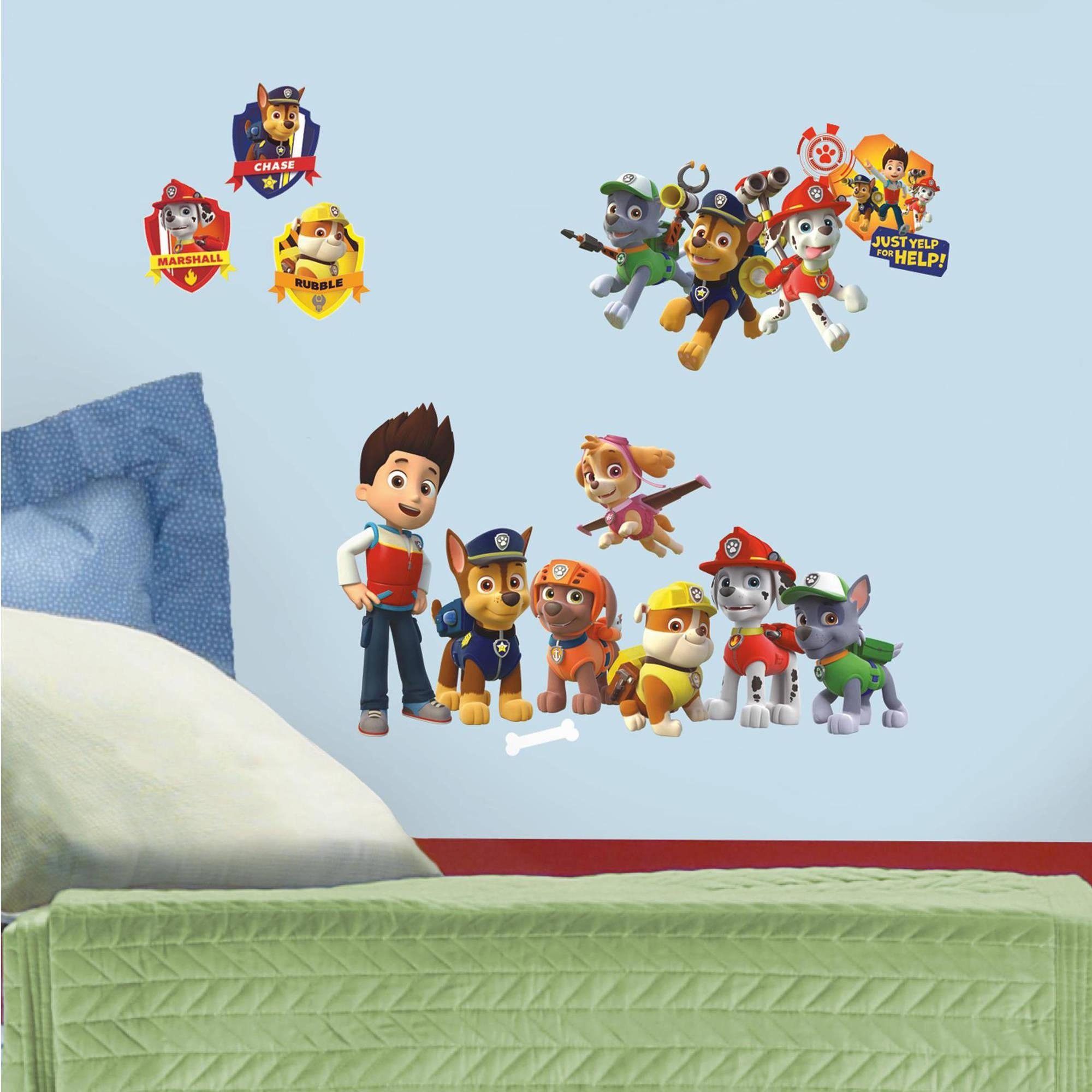 Paw Patrol Peel And Stick Wall Decals – Walmart Throughout Preschool Classroom Wall Decals (View 17 of 20)