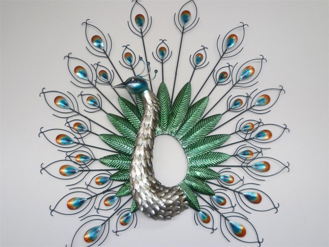 Peacock Metal Wall Art Best Metal Wall Art For Metal Wall Art In Peacock Metal Wall Art (View 2 of 20)