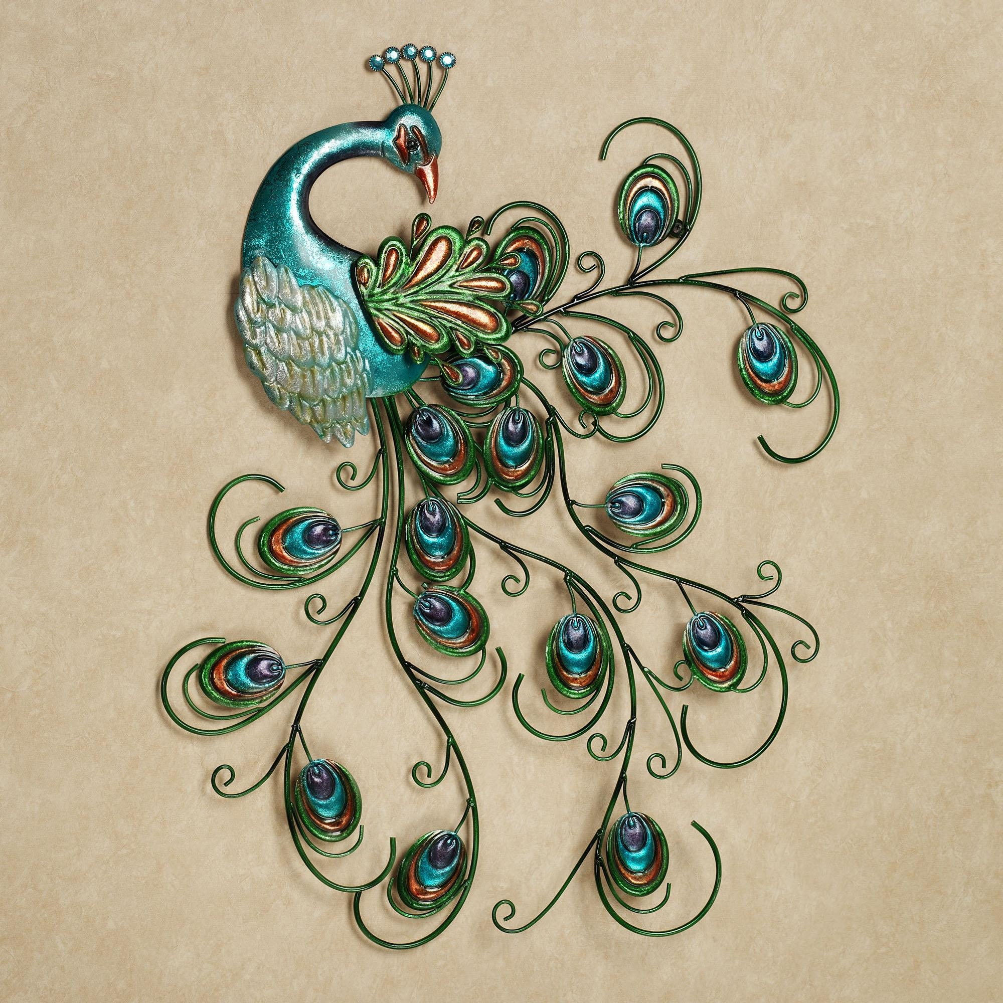 Peacock Metal Wall Art Unique Canvas Wall Art On Bathroom Wall Art With Regard To Metal Wall Art For Bathroom (Image 14 of 20)