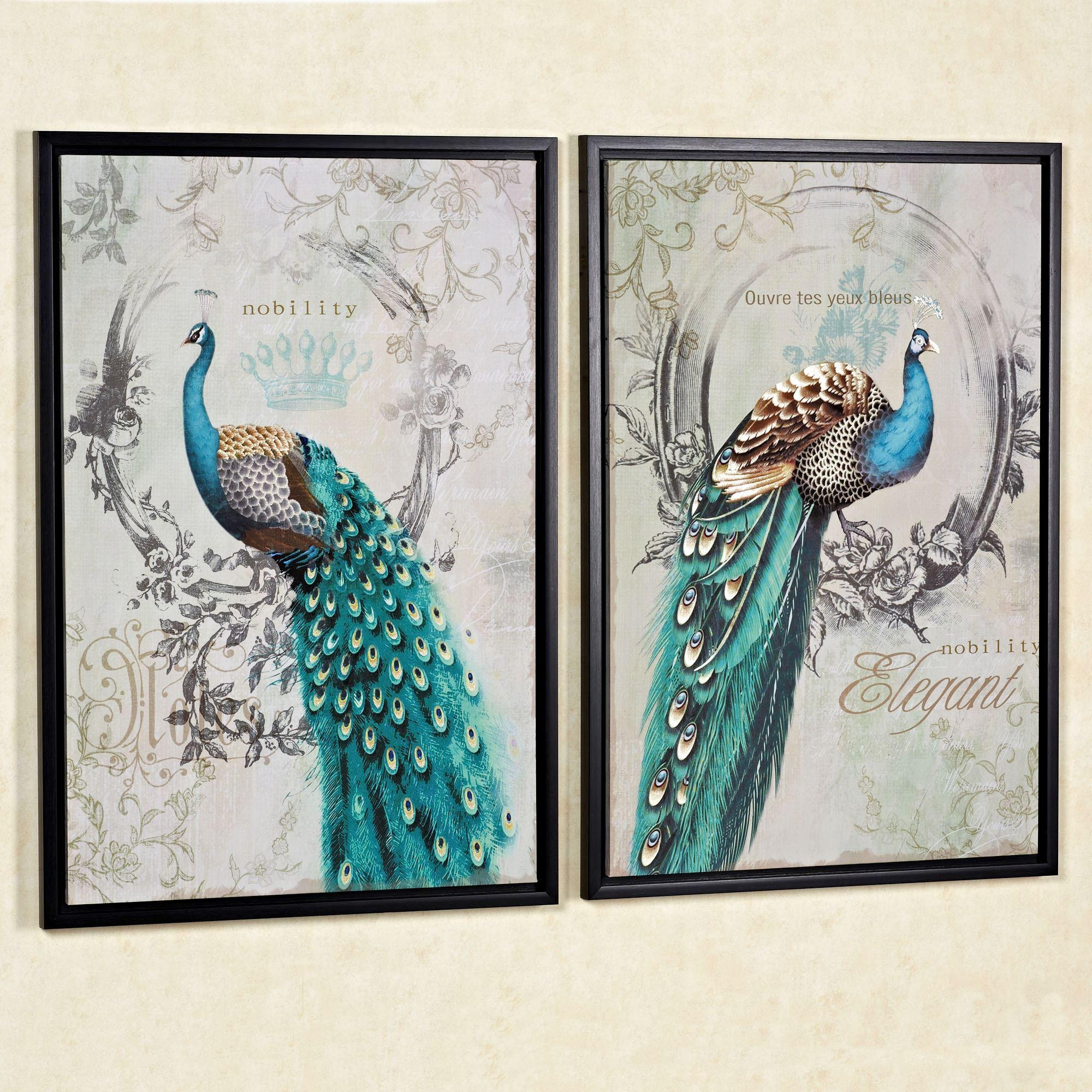 Peacock Themed Home Decor | Touch Of Class Throughout Jeweled Peacock Wall Art (Image 12 of 20)