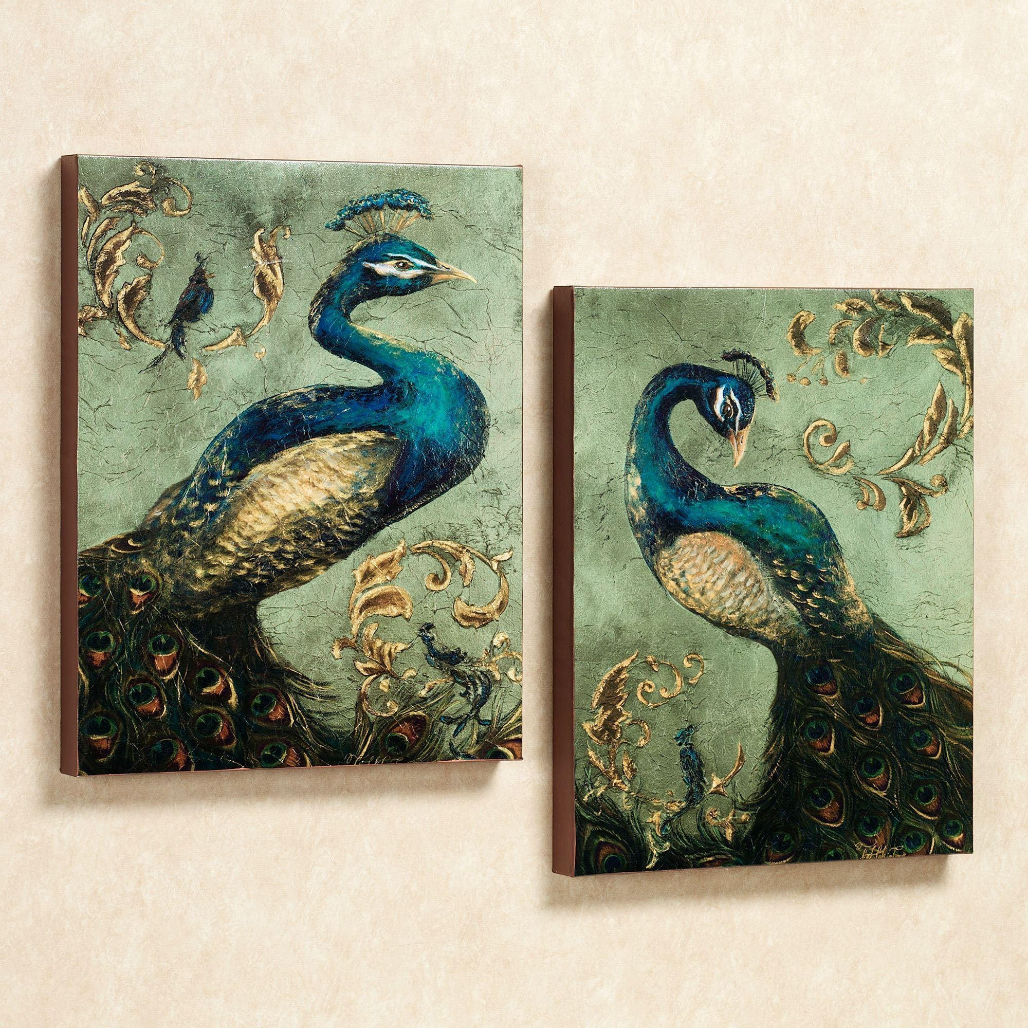 Peacock Themed Home Decor | Touch Of Class With Regard To Jeweled Peacock Wall Art (Image 13 of 20)