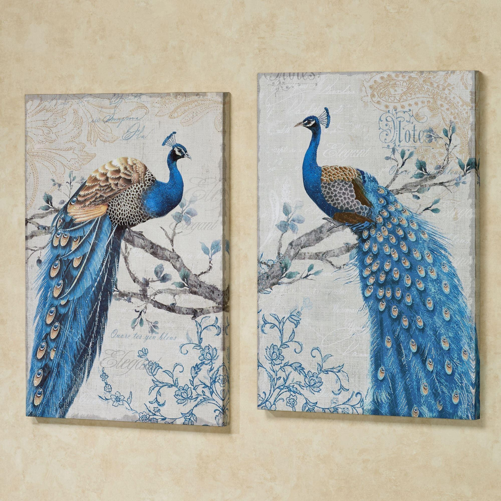 Peacock Wall Decor | Roselawnlutheran Within Jeweled Peacock Wall Art  (Image 18 Of 20)