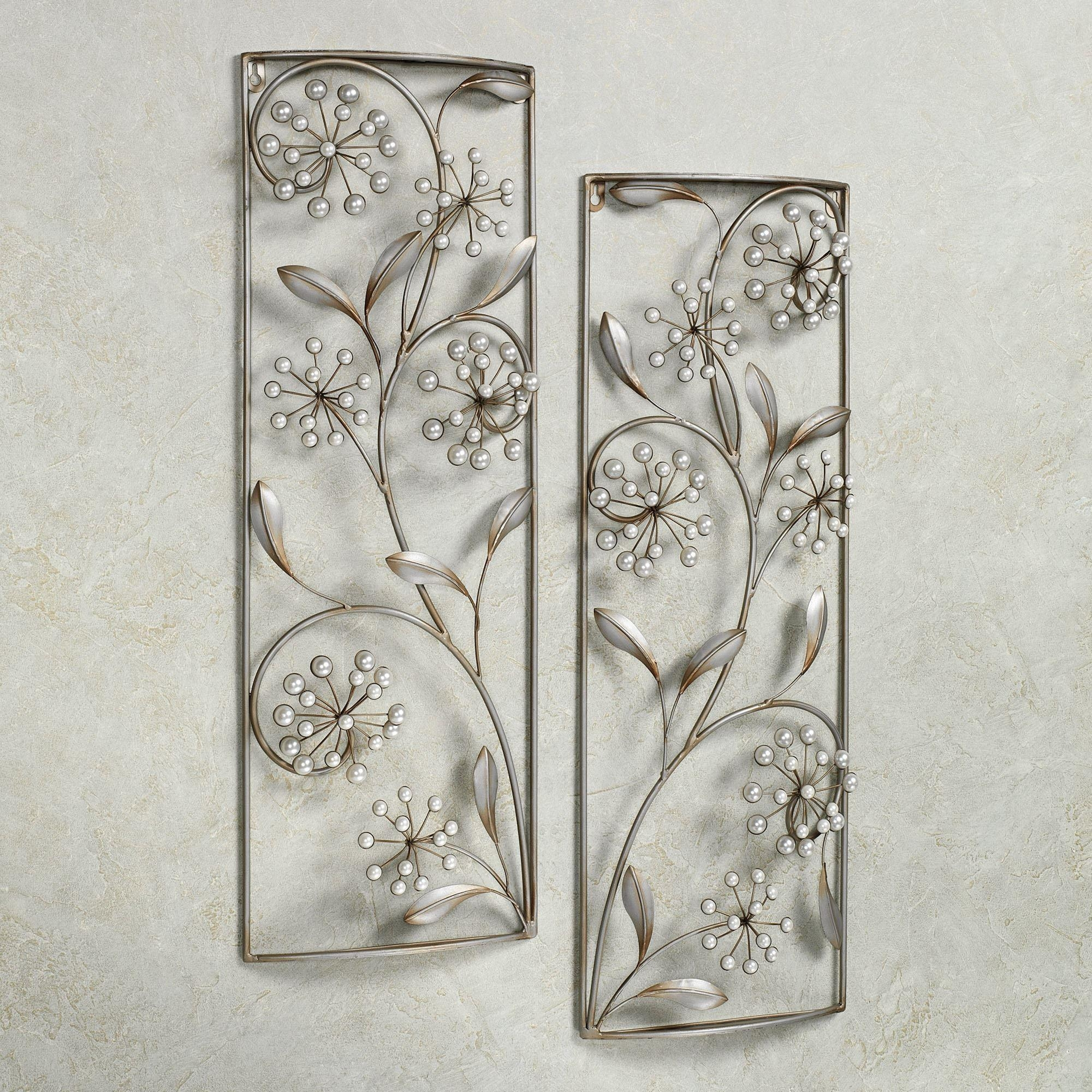 Pearlette Metal Wall Art Panel Set Pertaining To Rectangular Metal Wall Art (View 9 of 20)