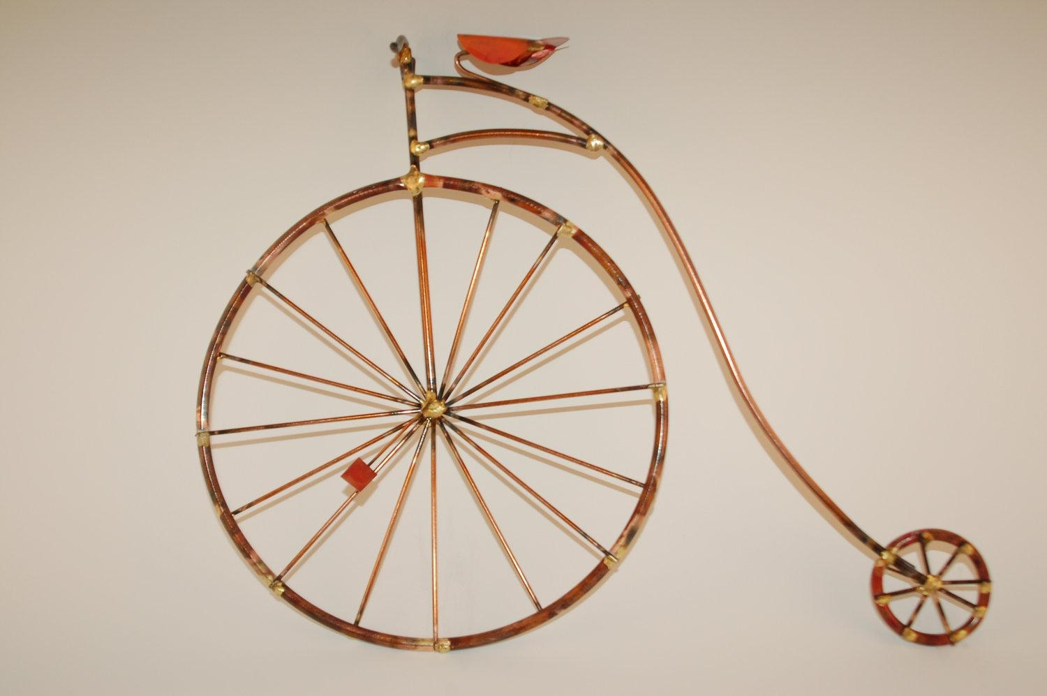 Penny Farthing Bikes Old Fashion Giant Bicyclehigh Inside Bicycle Metal Wall Art (Image 13 of 20)