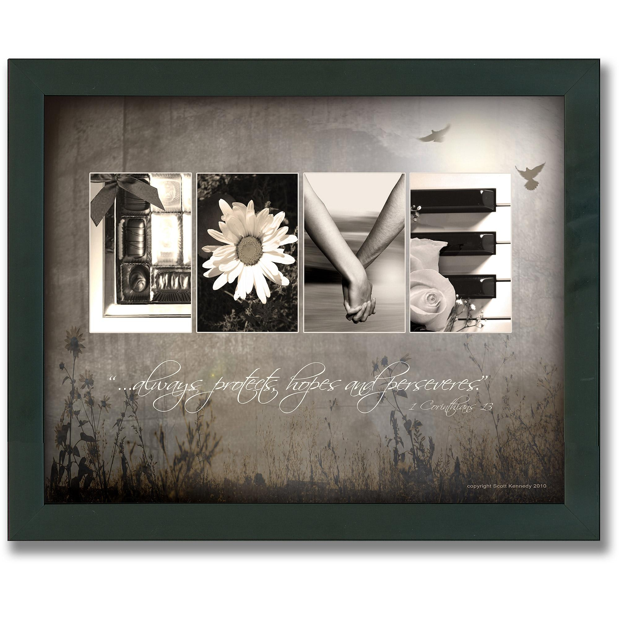 Personal Prints Love Letters Framed Canvas Wall Art – Walmart For Walmart Framed Art (Image 8 of 20)