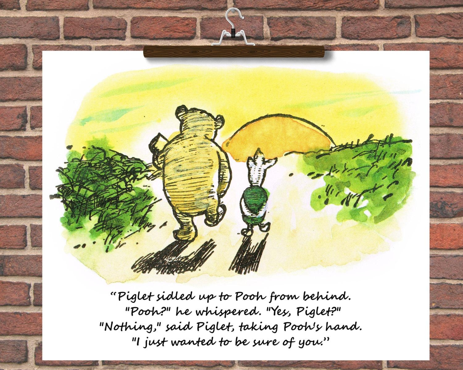 Personalise Winnie The Pooh Wedding Quotes Winnie The Pooh Throughout Winnie The Pooh Nursery Quotes Wall Art (View 14 of 20)