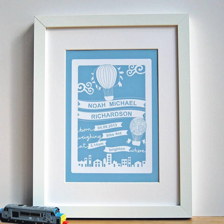 Personalised Baby Wall Art Printant Design Gifts For Personalized Nursery Wall Art (View 6 of 20)