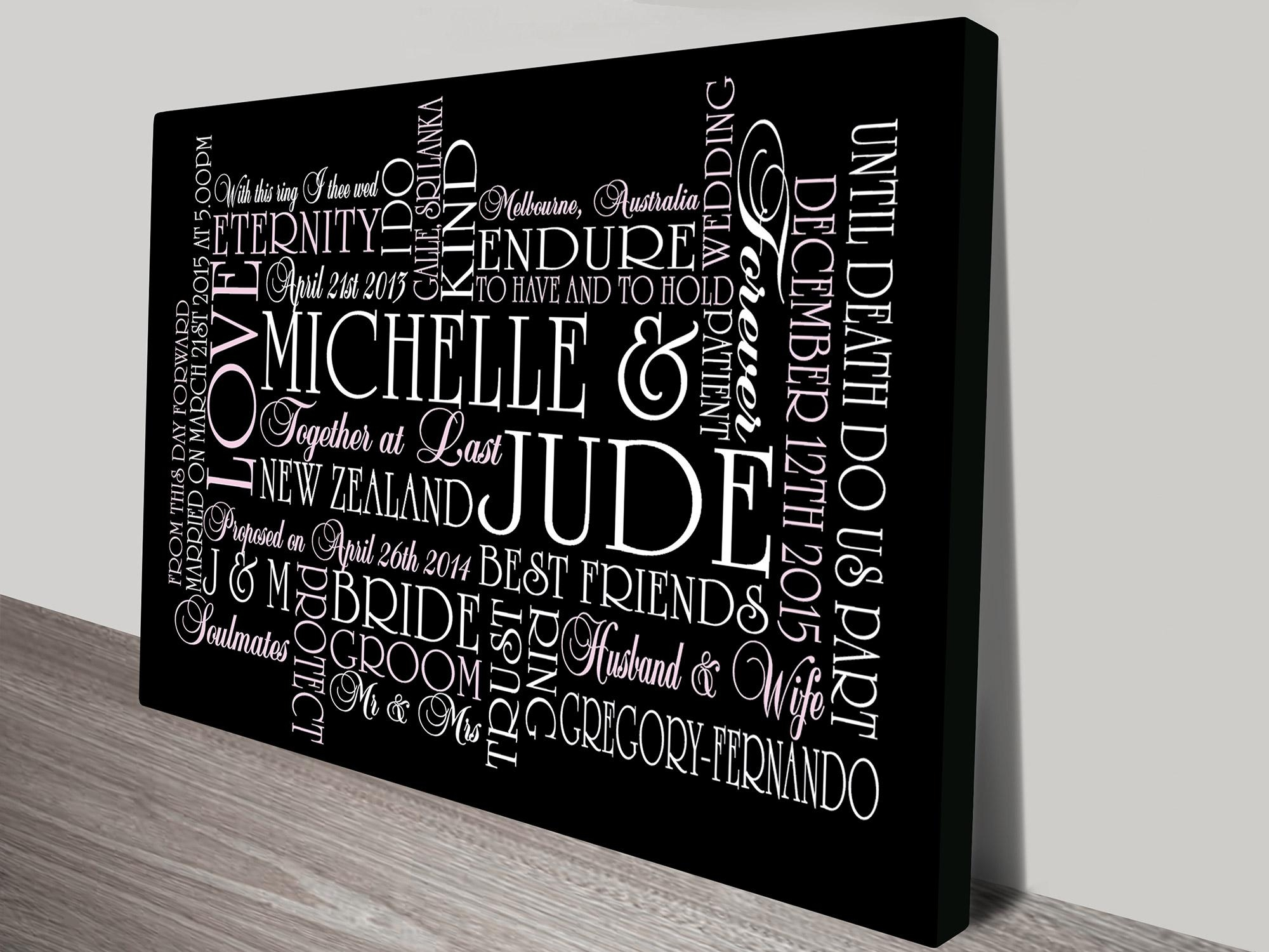 Personalised Canvas Art Prints | Custom Word Art Australia In Custom Canvas Art With Words (Image 7 of 20)