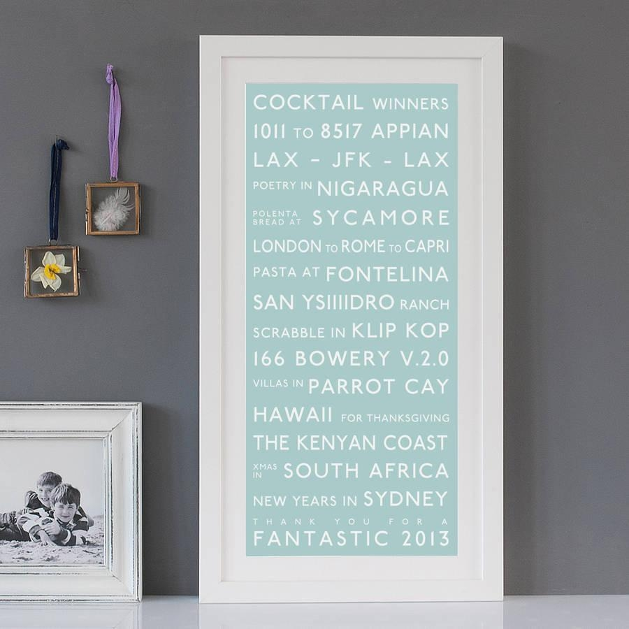 Personalised Destination Printbetsy Benn | Notonthehighstreet With Duck Egg Blue Wall Art (View 12 of 20)