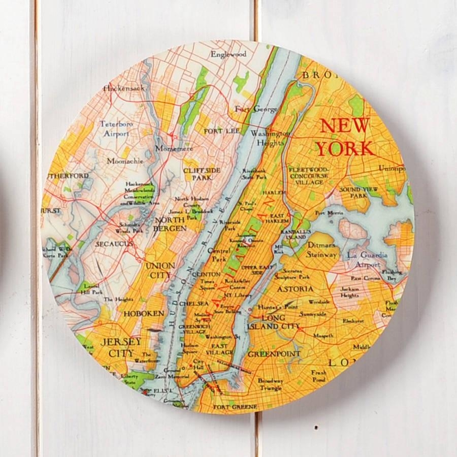 Personalised Map Location 3D Circle Wall Artbombus In 3D Circle Wall Art (Image 13 of 20)