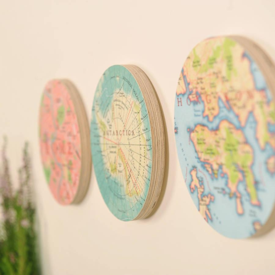 Personalised Map Location 3D Circle Wall Artbombus Throughout 3D Circle Wall Art (View 3 of 20)