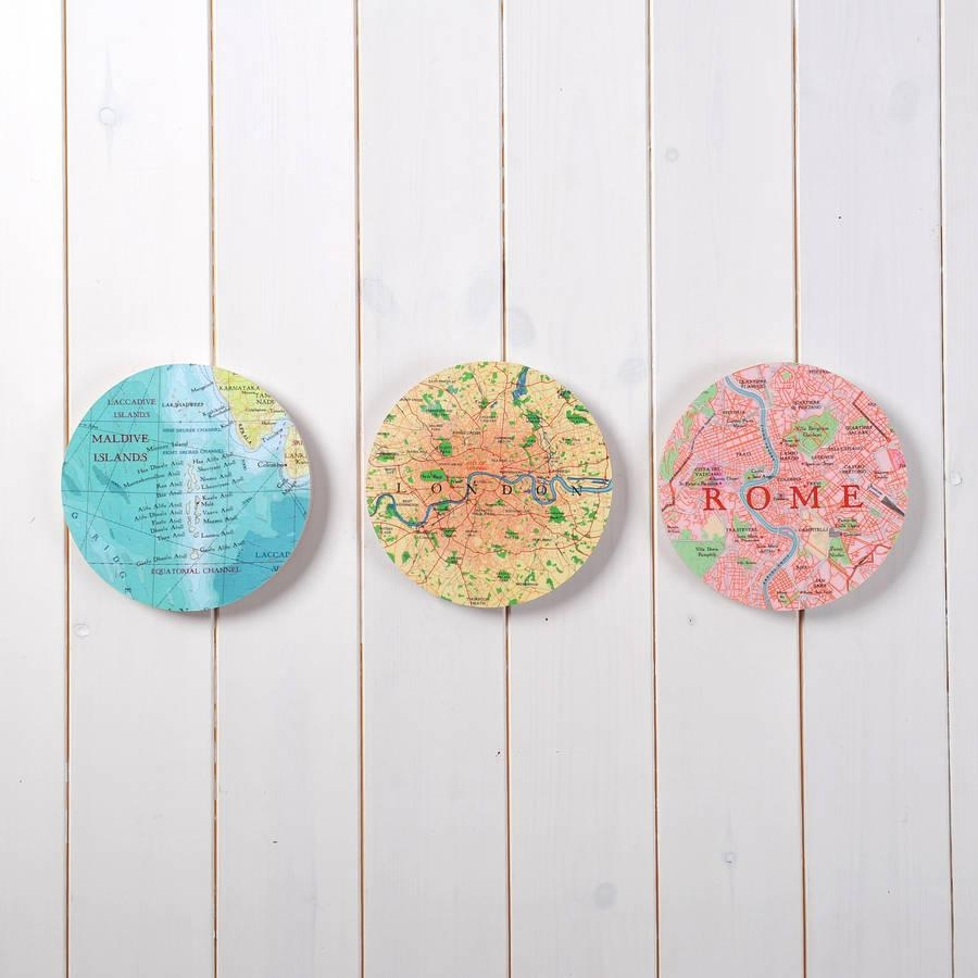 Personalised Map Location 3D Circle Wall Artbombus With Regard To 3D Circle Wall Art (Image 17 of 20)