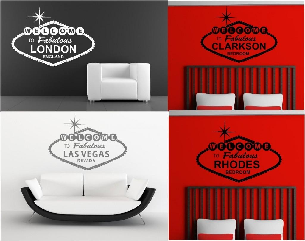 Personalised Welcome To Fabulous Wall Art Graphics Stickers Within Graphic Design Wall Art (View 10 of 20)