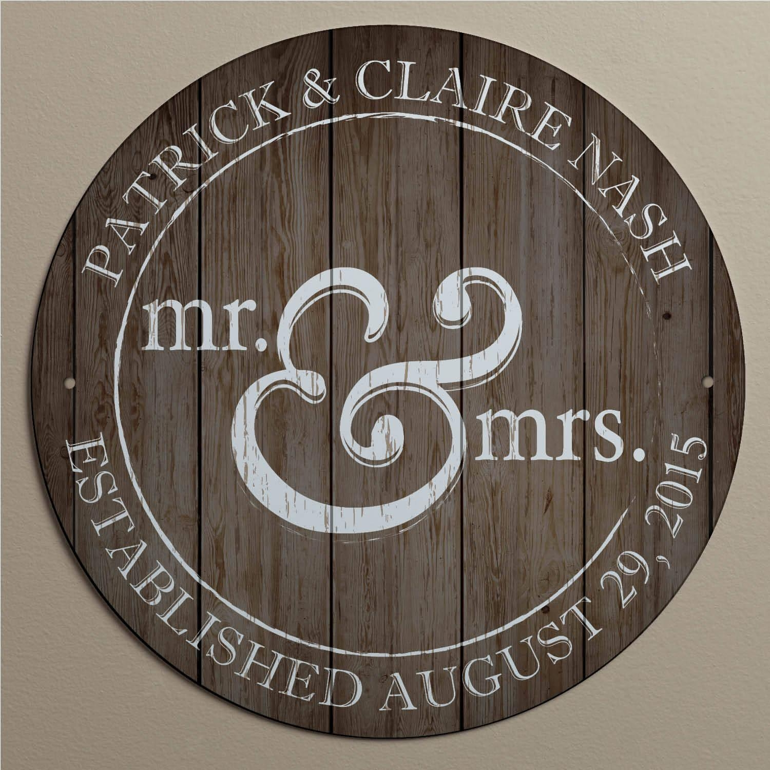 Personalized Mr. And Mrs (View 8 of 20)