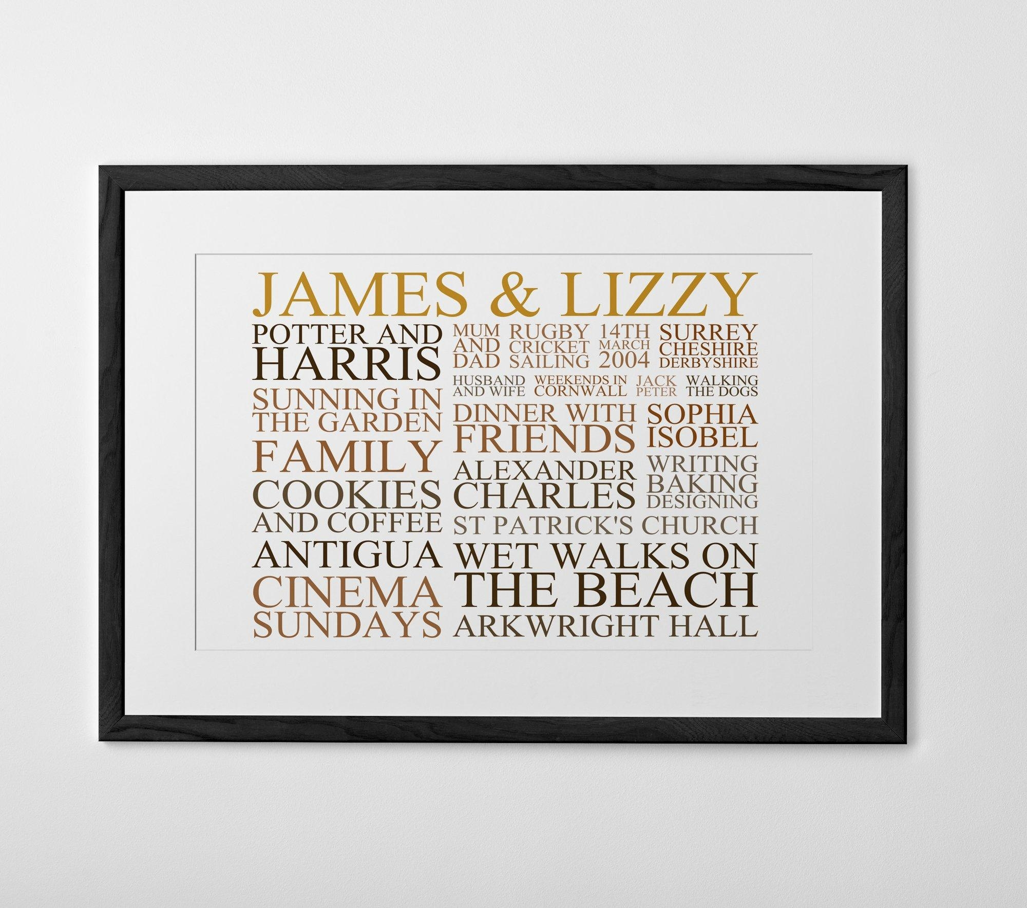 Personalized Typography Prints, Posters And Canvases – Posterhaste Pertaining To Typography Canvas Wall Art (View 12 of 20)