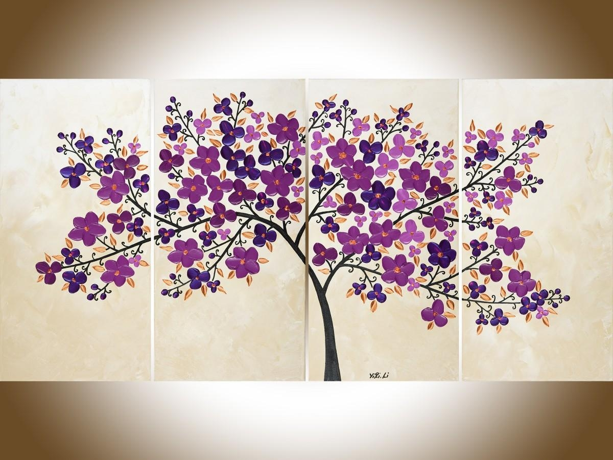 "Petals Of Filigreeqiqigallery 48"" X 24"" Original Oil Painting Inside Filigree Wall Art (Image 16 of 20)"