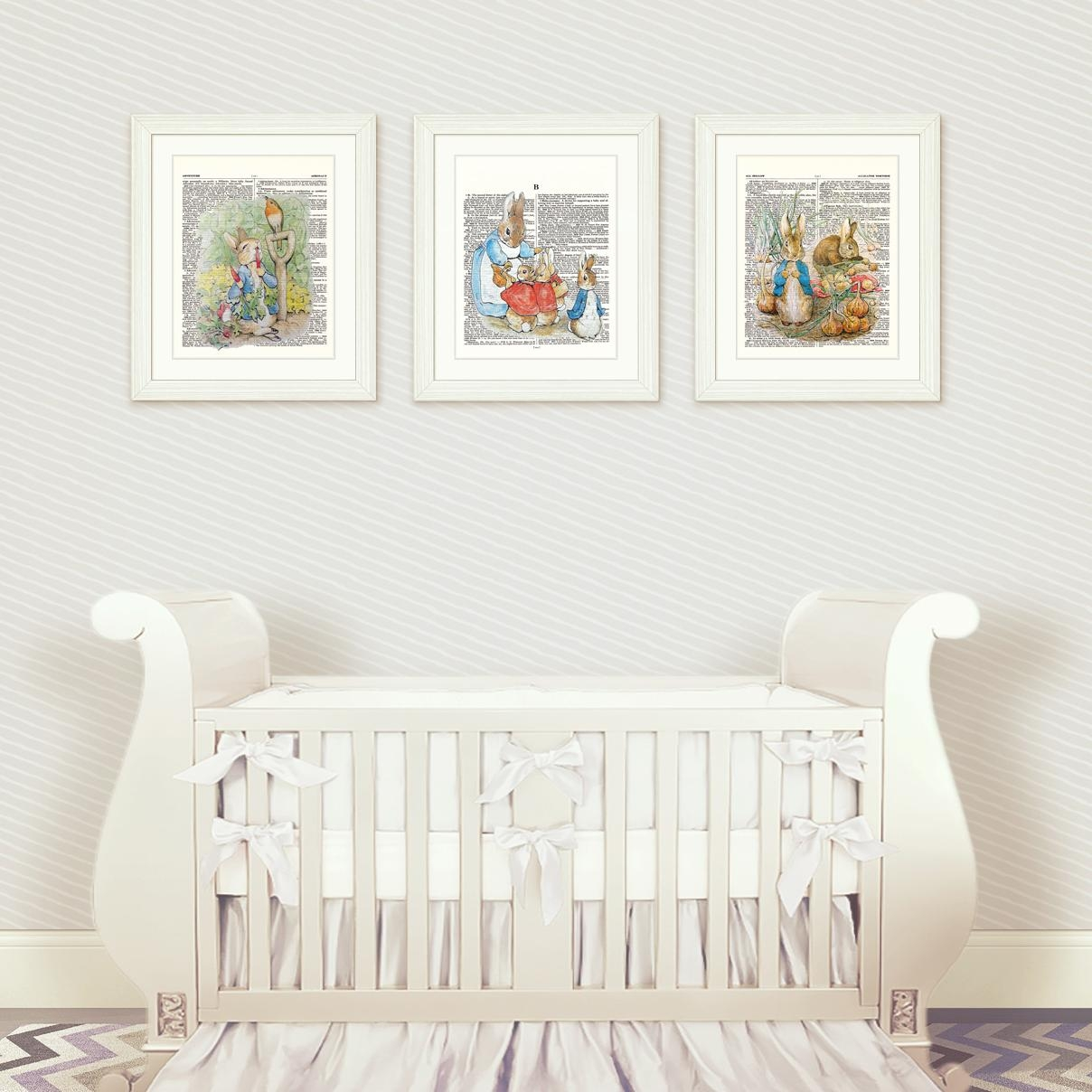 Peter Rabbit Nursery Wall Art Set 1 – Artsy Pumpkin In Peter Rabbit Wall Art (View 4 of 20)