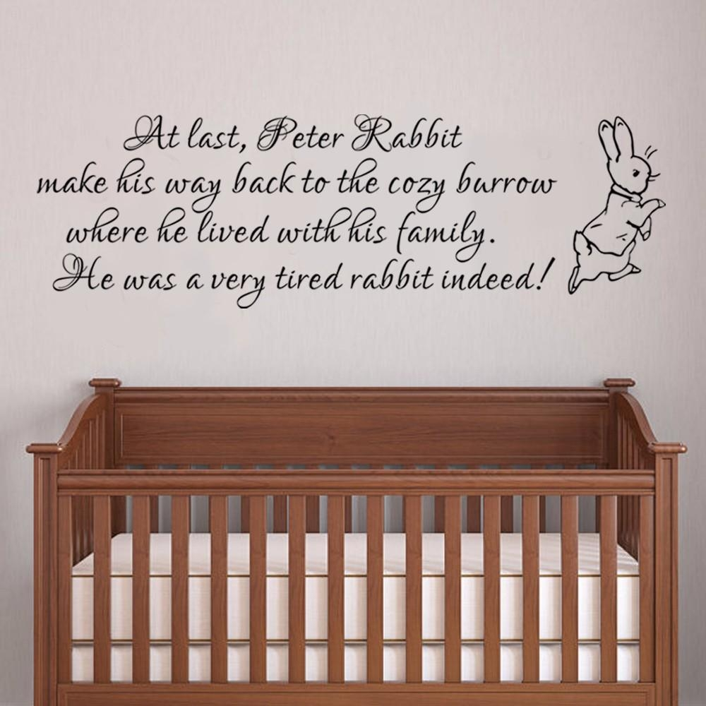Peter Rabbit Wall Decal Nursery Wall Decal Baby Room Wall Decal Within Peter Rabbit Wall Art (View 3 of 20)