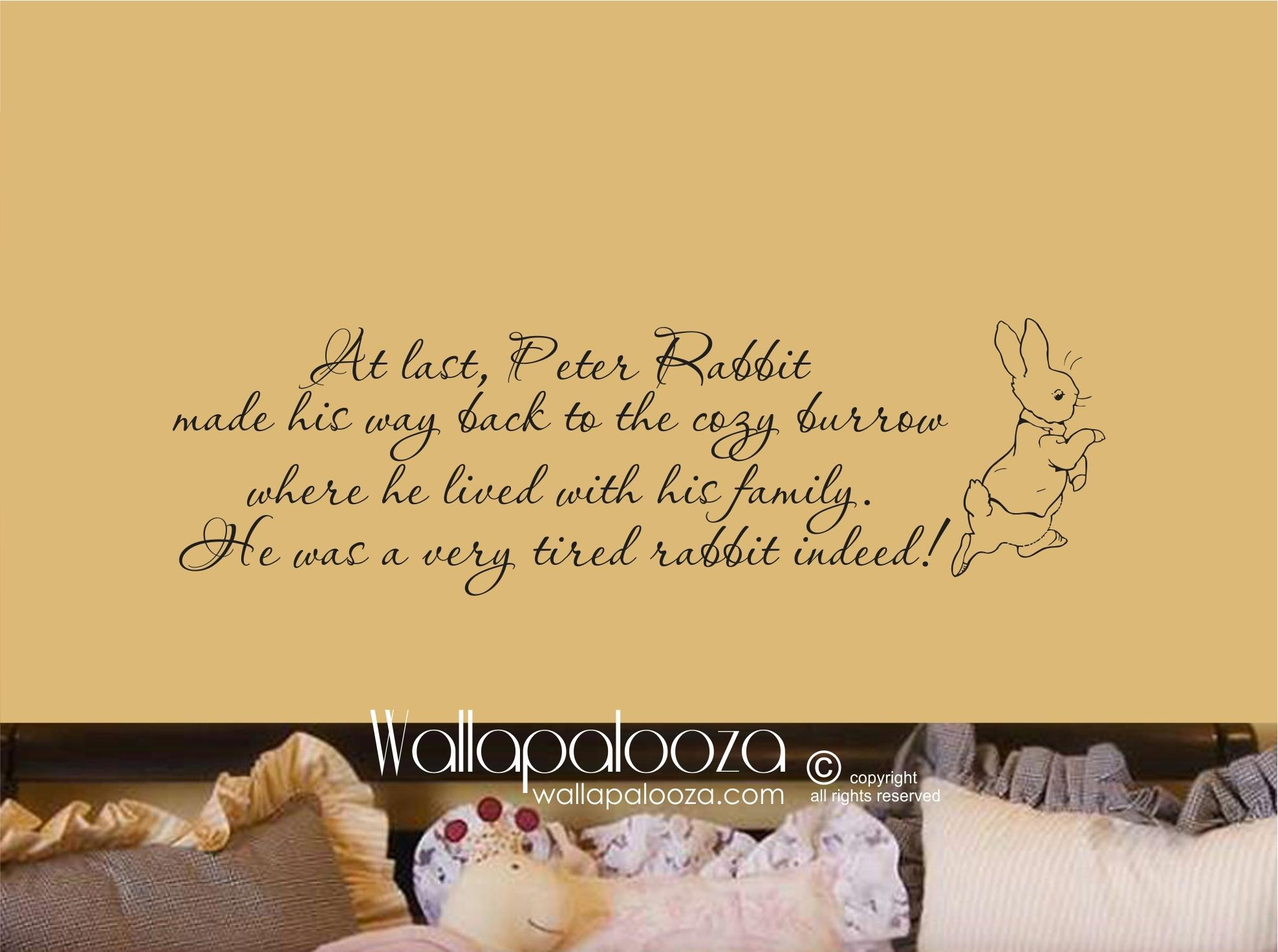 Peter Rabbit Wall Decal « Wallapalooza Decals For Peter Rabbit Wall Art (Image 12 of 20)