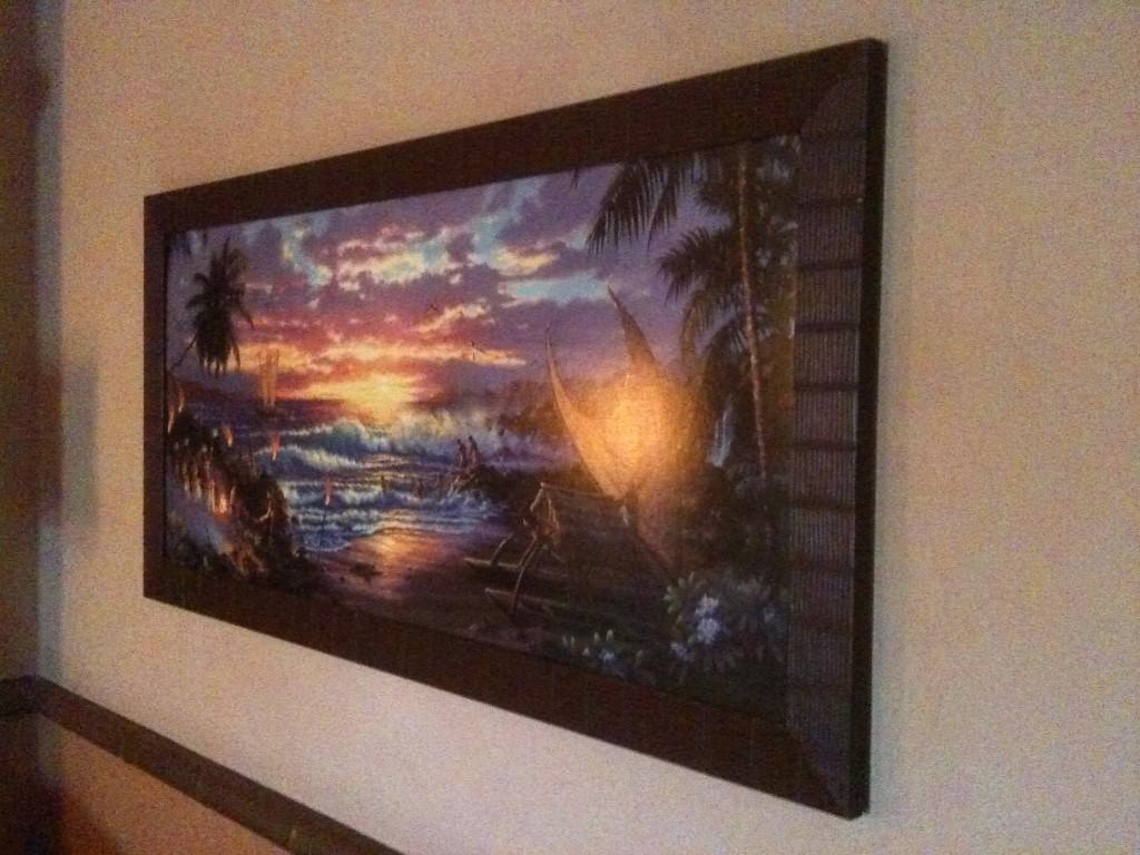 Photo Tour Of Our Concierge Room At Disney's Polynesian Resort With Polynesian Wall Art (Image 7 of 20)