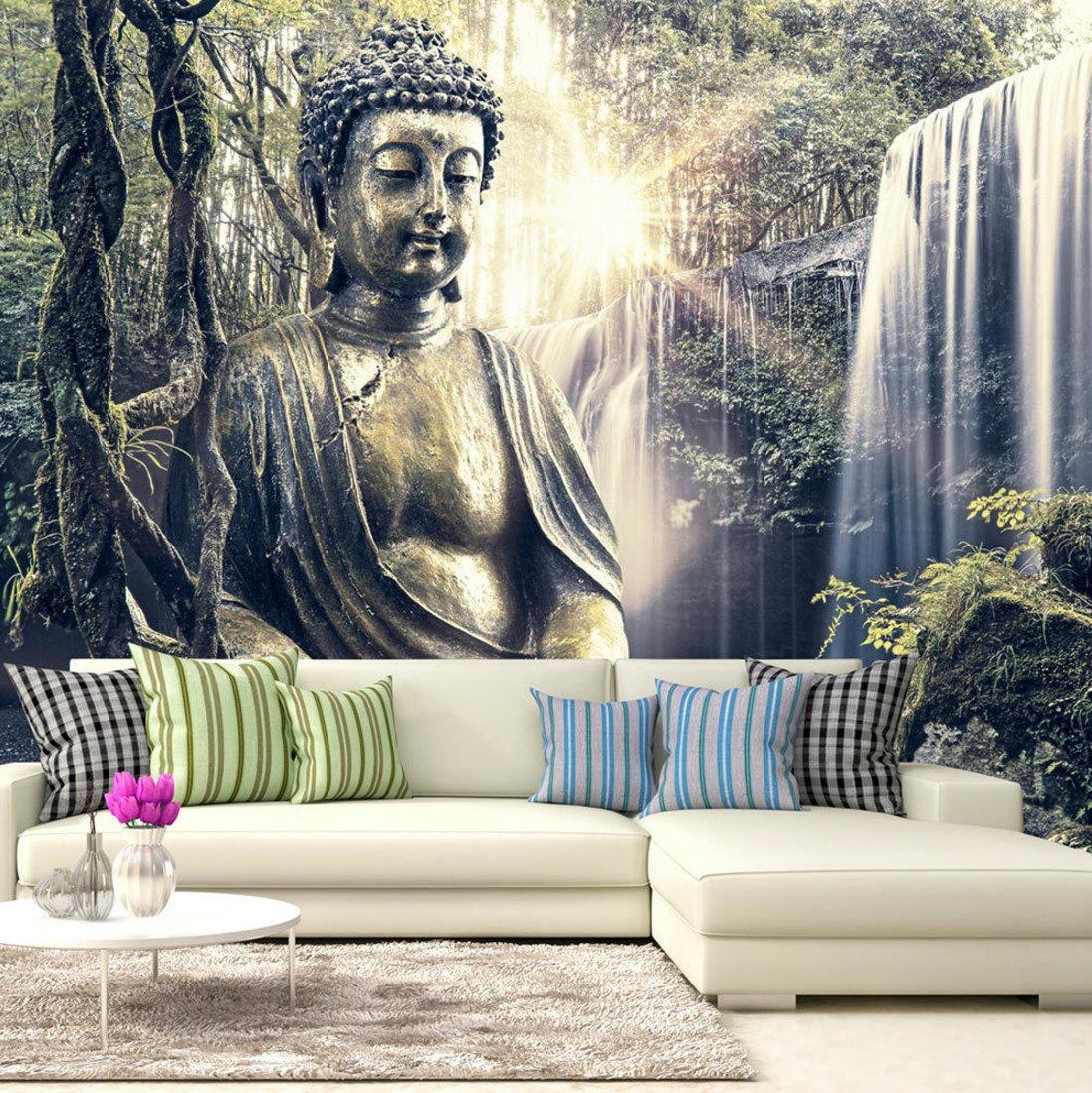 20 ideas of 3d buddha wall art wall art ideas for Buddha mural art