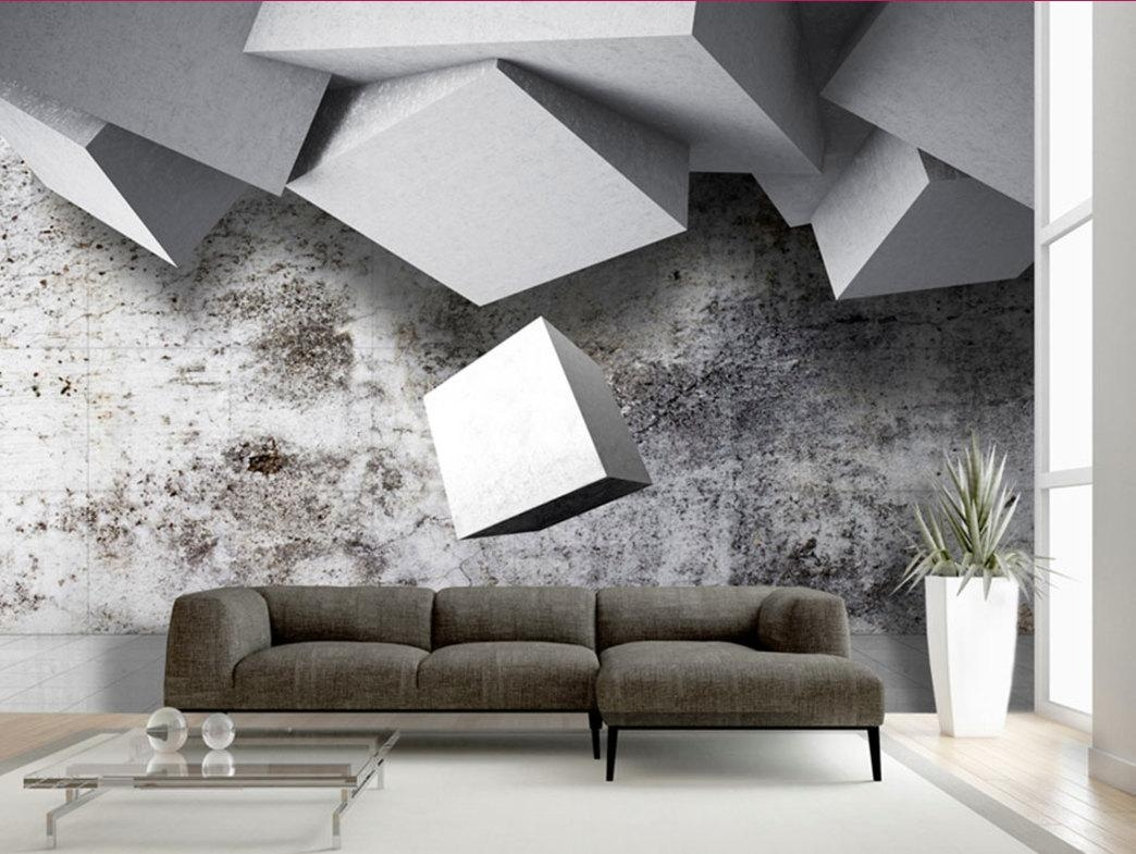 Photo Wallpaper Wall Murals Non Woven 3D Modern Art Optical With Optical Illusion Wall Art (View 17 of 20)