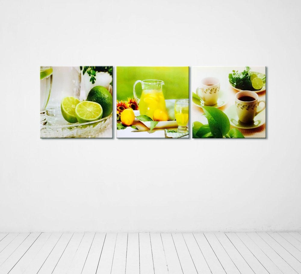Photography Kitchen Wall Decor Multi Piece Canvas With Lime Green Wall Art (Image 19 of 20)